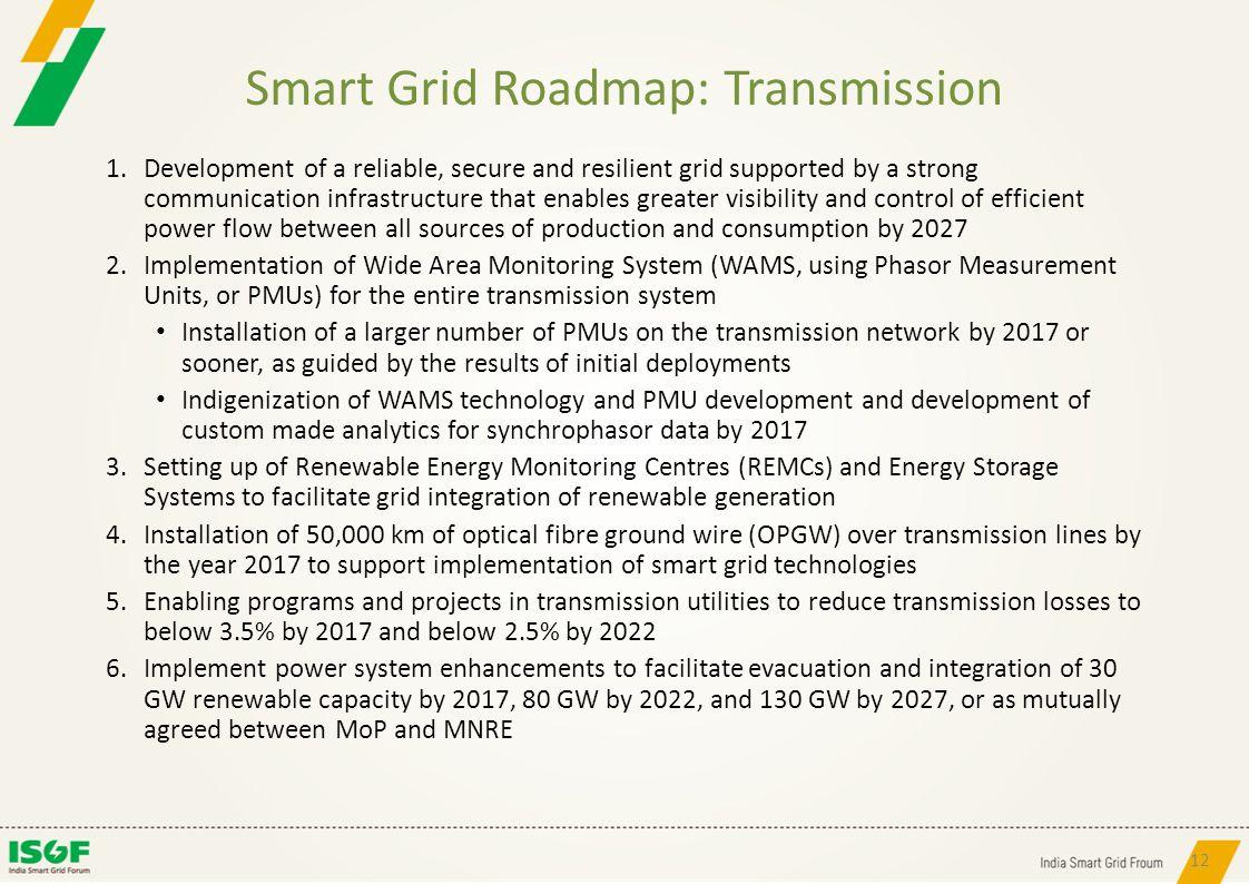 Smart Grid Roadmap: Transmission