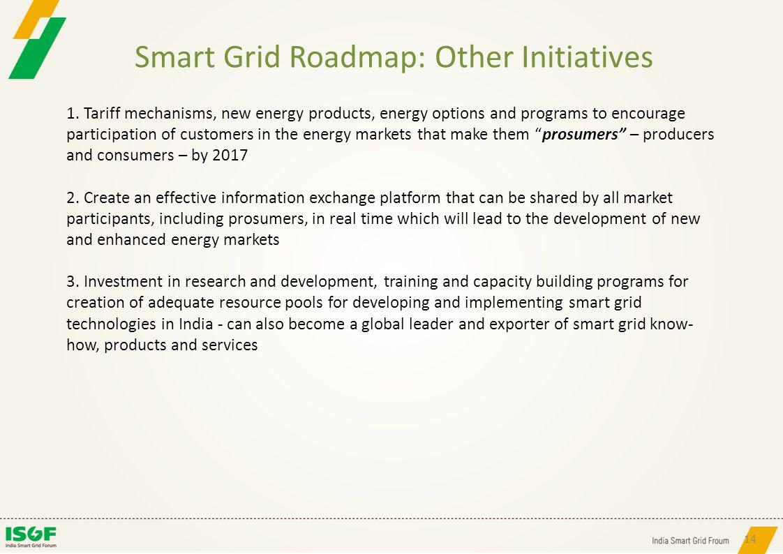 Smart Grid Roadmap: Other Initiatives