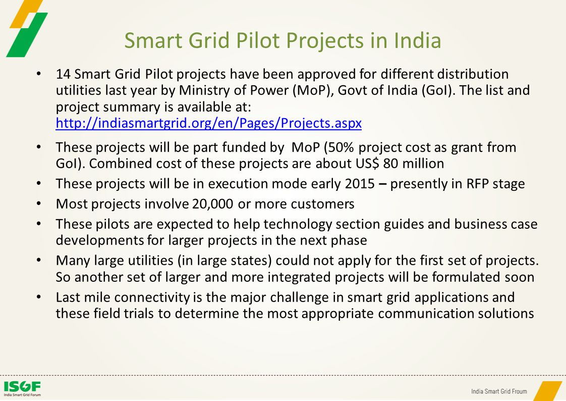 Smart Grid Pilot Projects in India