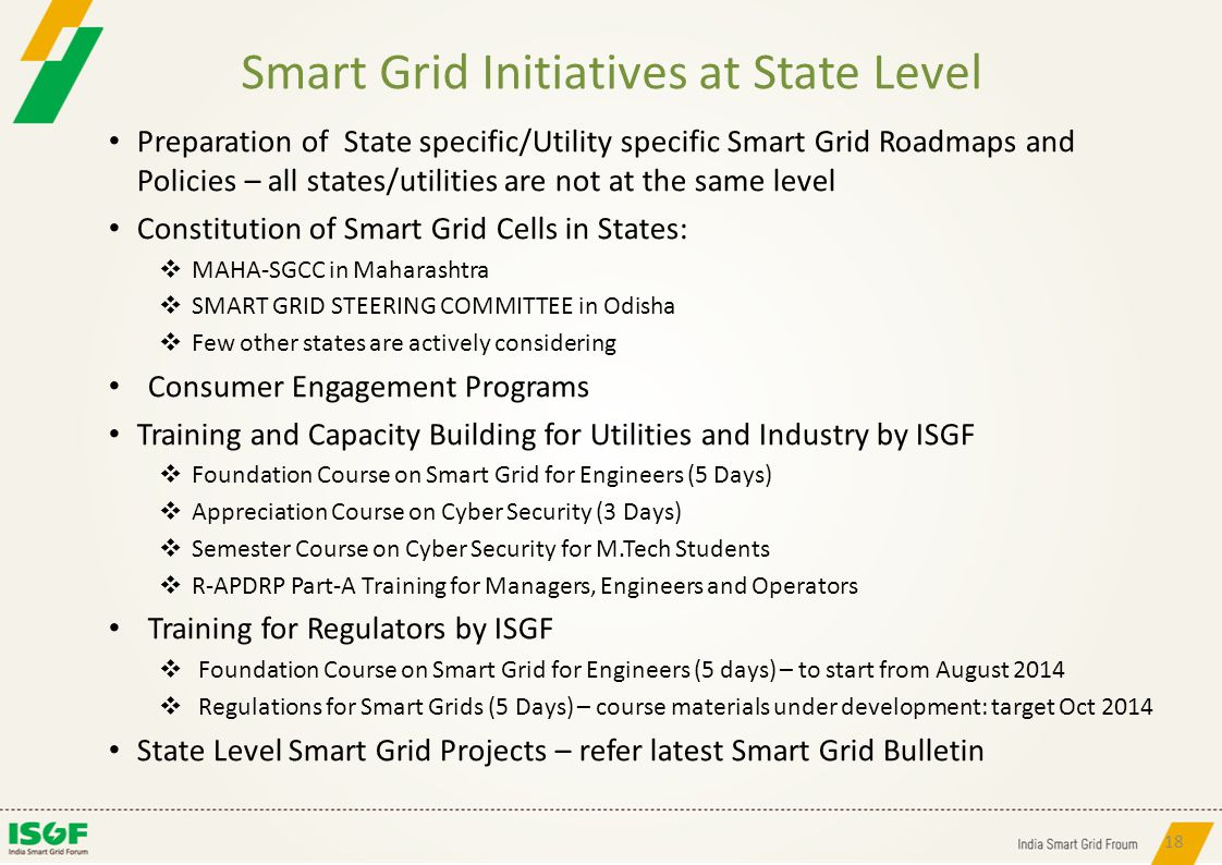 Smart Grid Initiatives at State Level