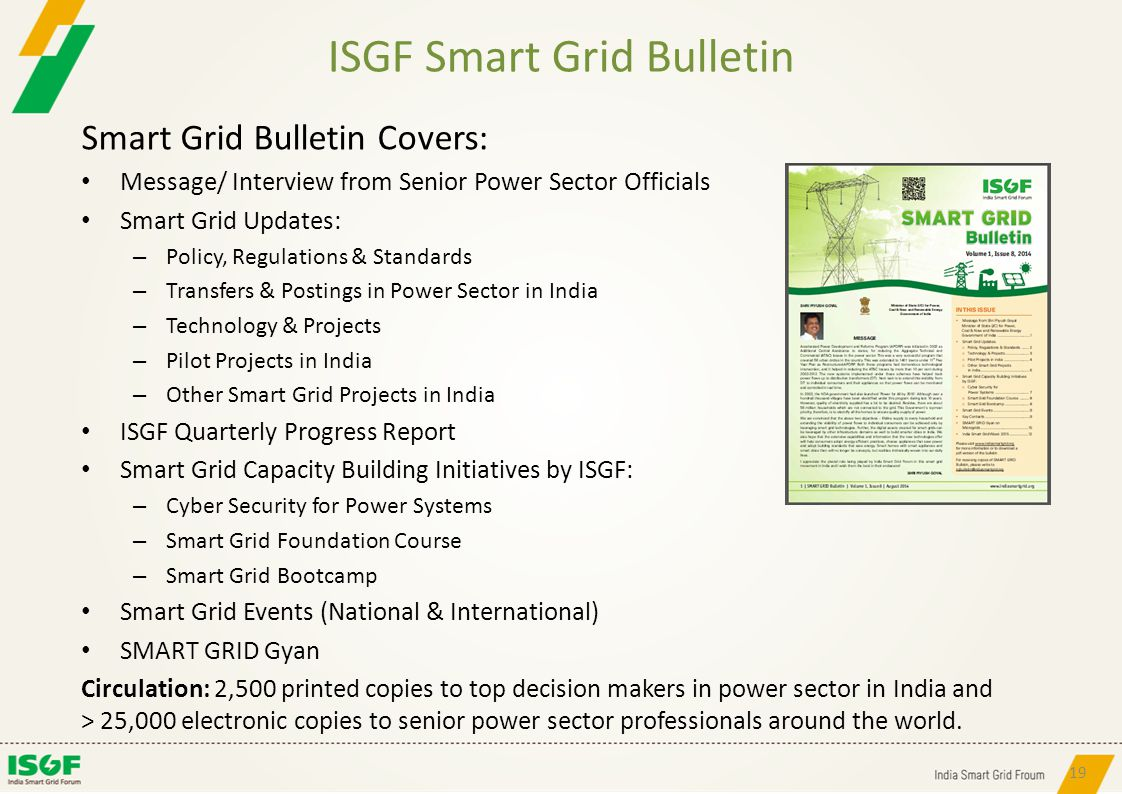 ISGF Smart Grid Bulletin