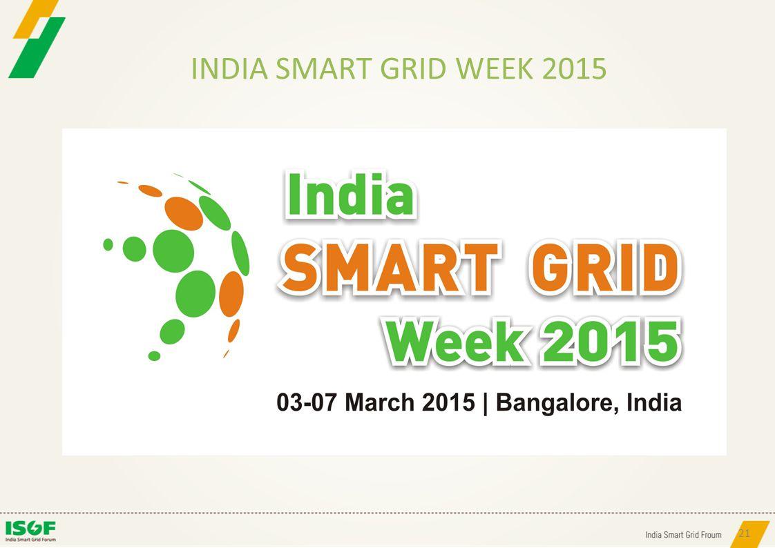 INDIA SMART GRID WEEK 2015