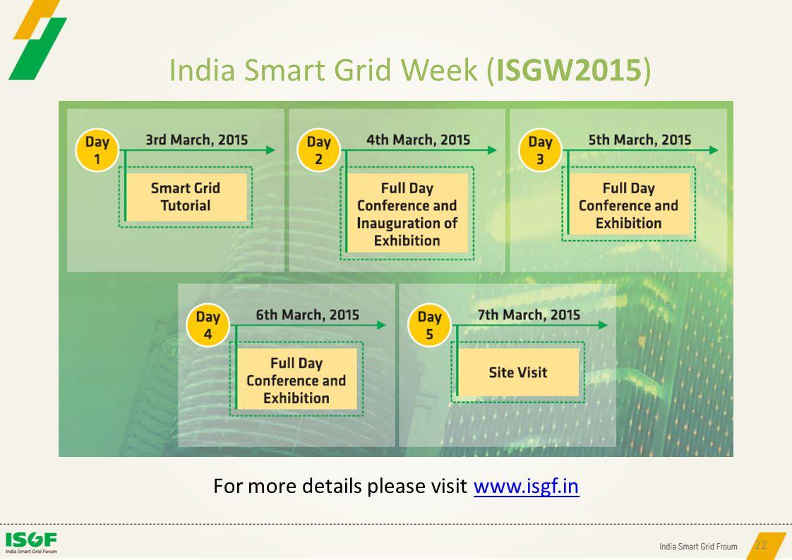 India Smart Grid Week (ISGW2015)