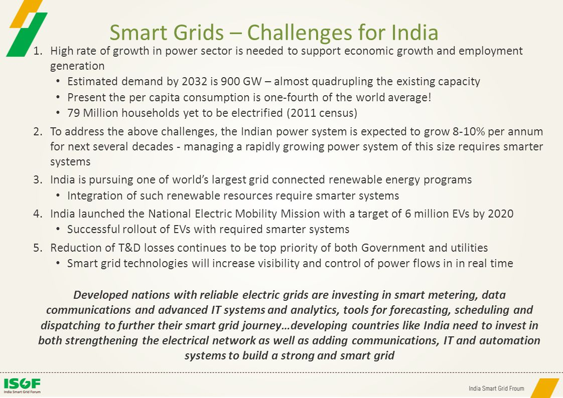 Smart Grids – Challenges for India