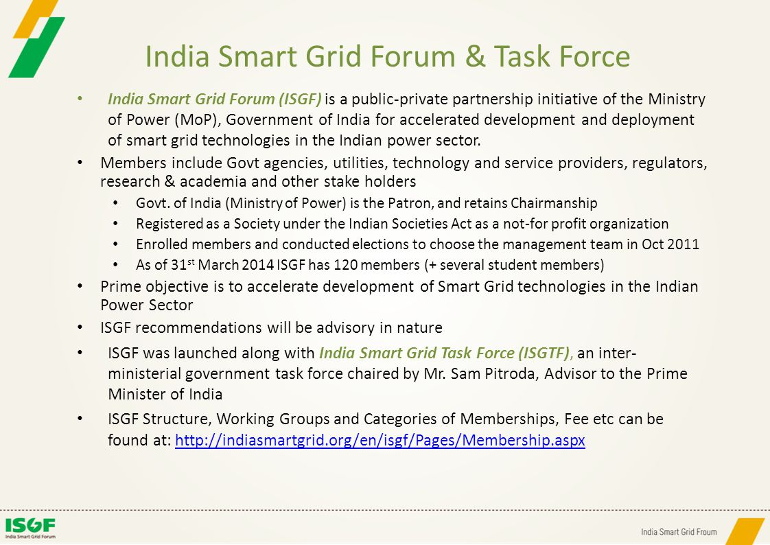 India Smart Grid Forum & Task Force