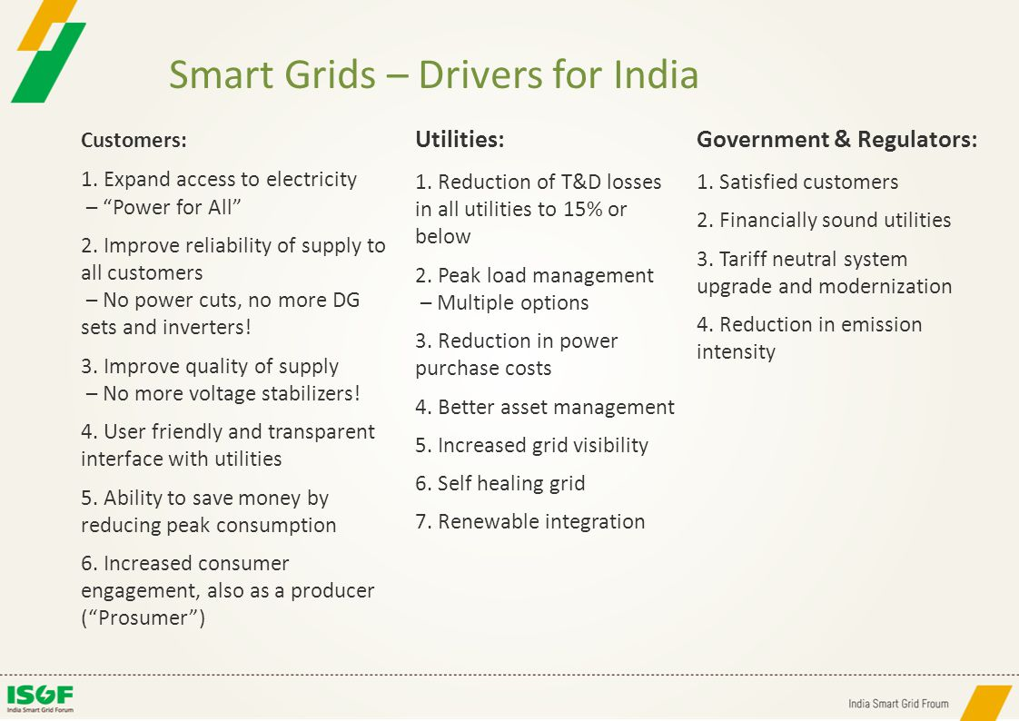 Smart Grids – Drivers for India
