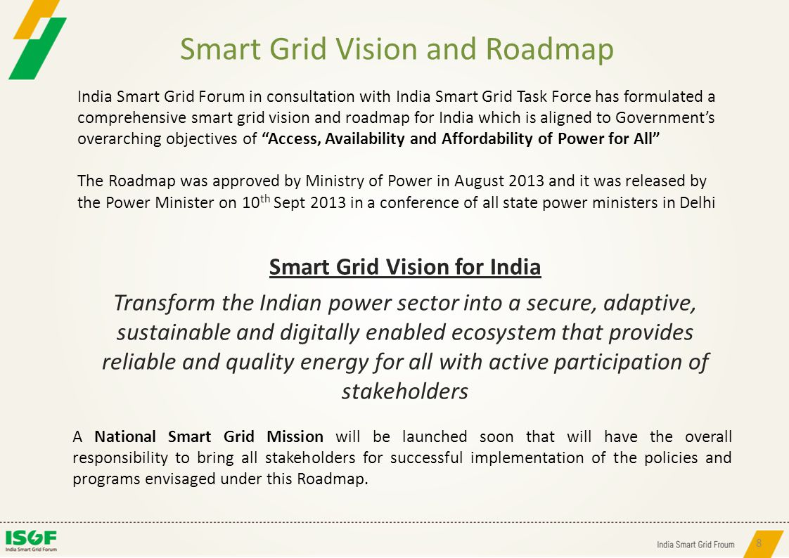 Smart Grid Vision and Roadmap