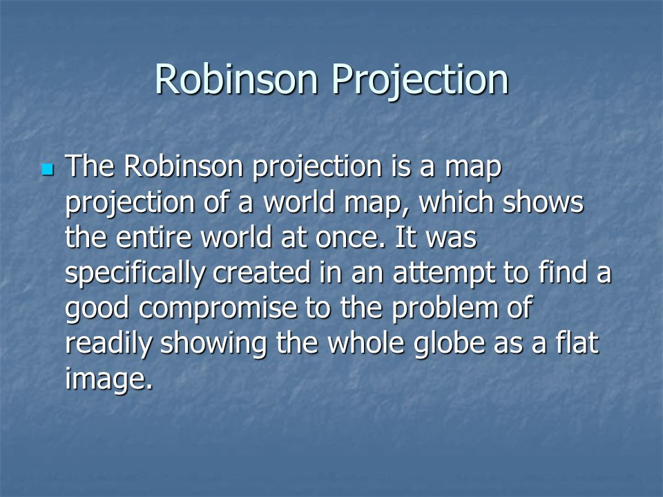 Robinson Projection