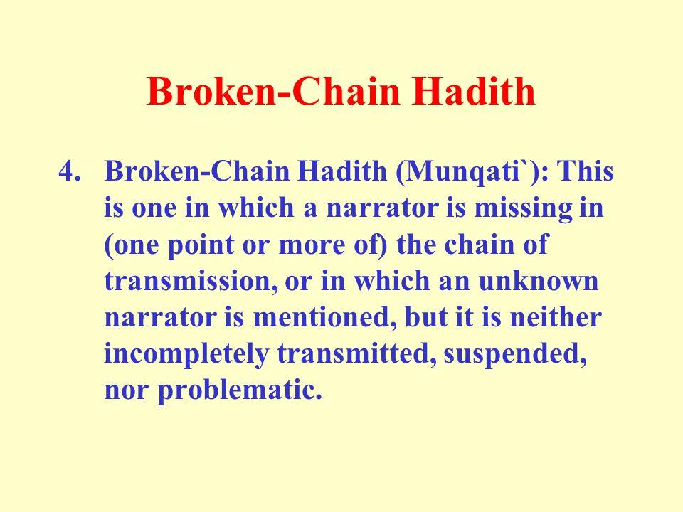 Broken-Chain Hadith