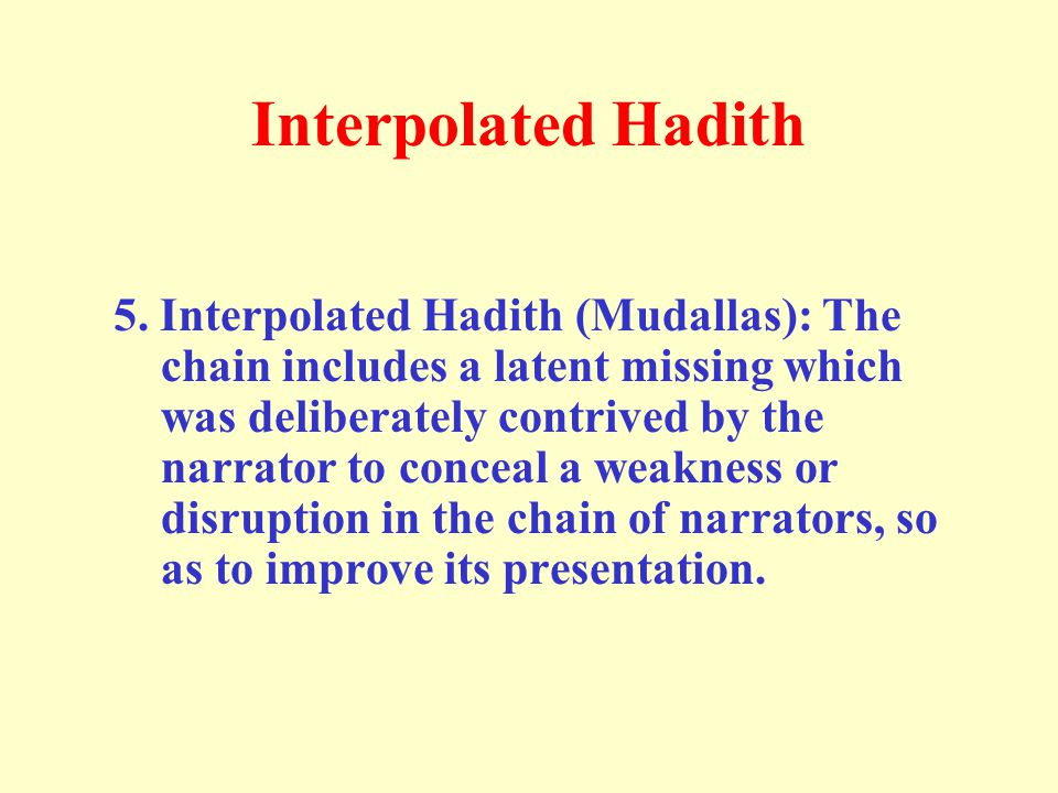 Interpolated Hadith