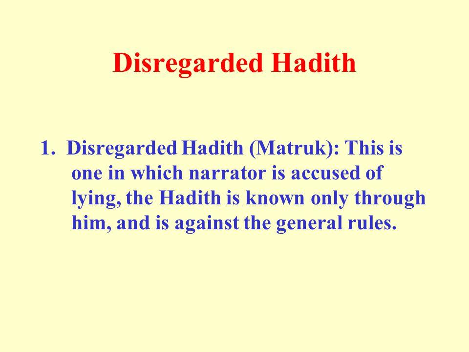 Disregarded Hadith