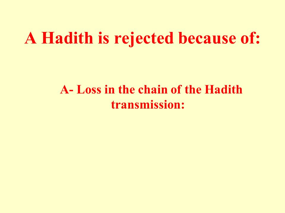 A Hadith is rejected because of: