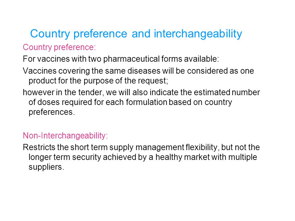 Country preference and interchangeability