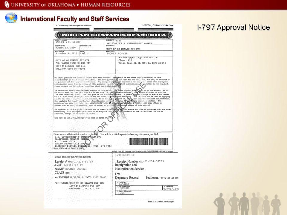 I-797 Approval Notice