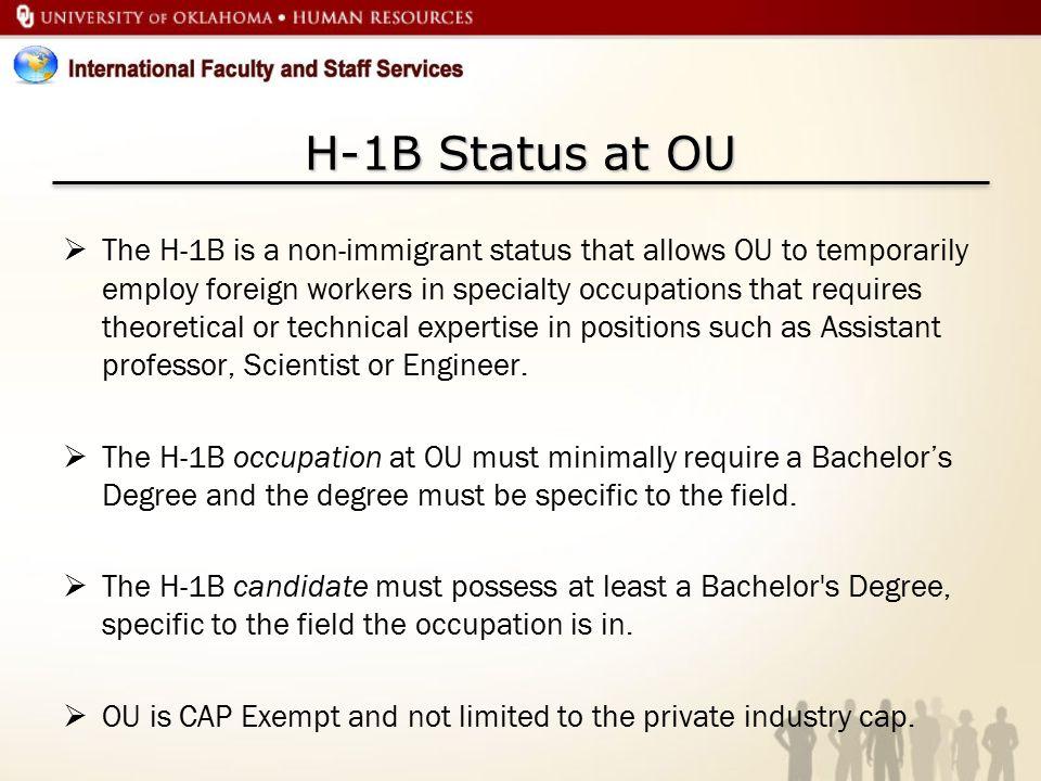 H-1B Status at OU