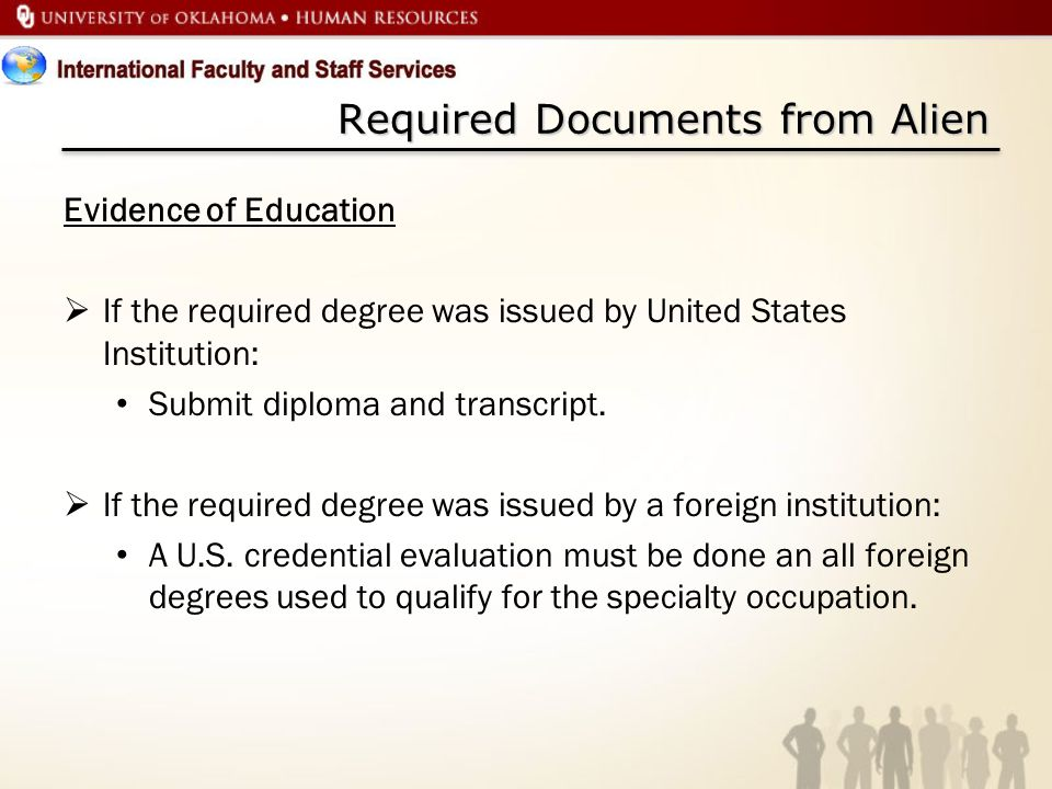 Required Documents from Alien