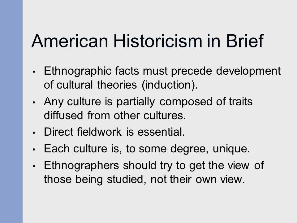 American Historicism in Brief