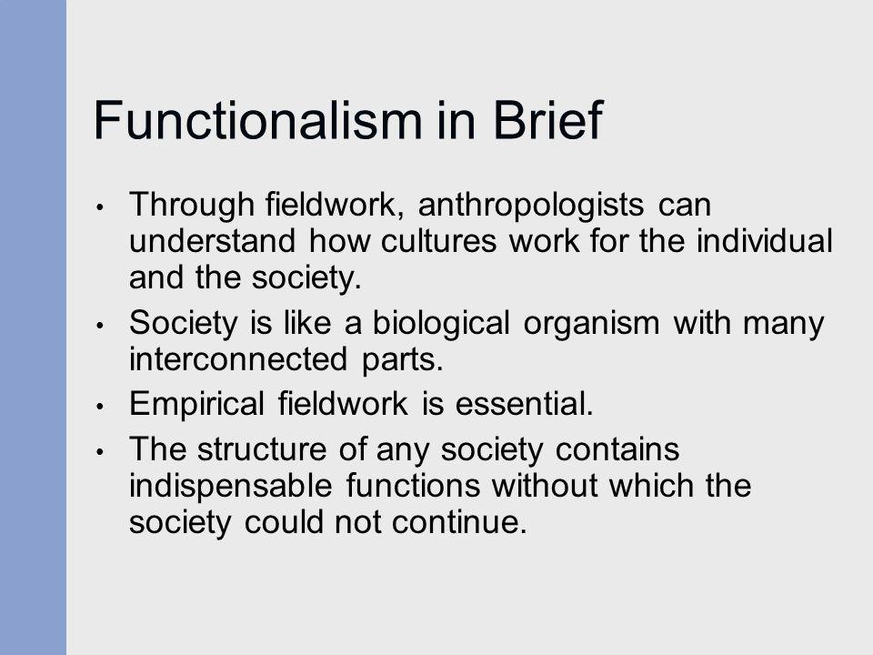 Functionalism in Brief