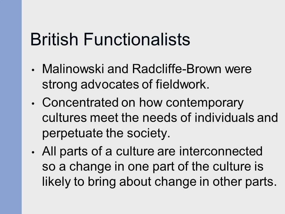 British Functionalists
