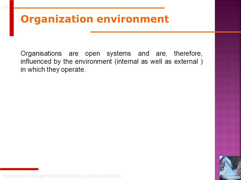 Organization environment
