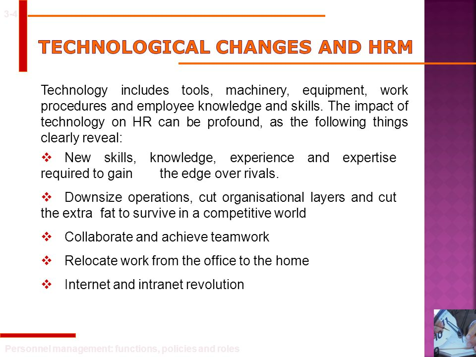 Technological Changes And HRM
