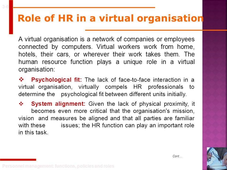 Role of HR in a virtual organisation