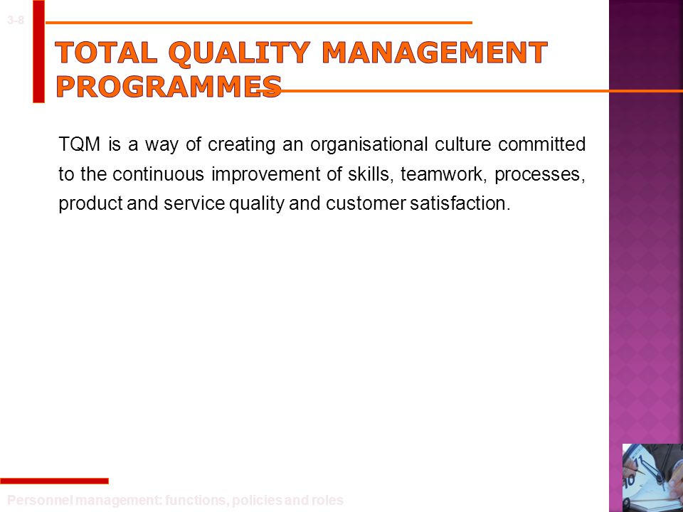 Total Quality Management Programmes