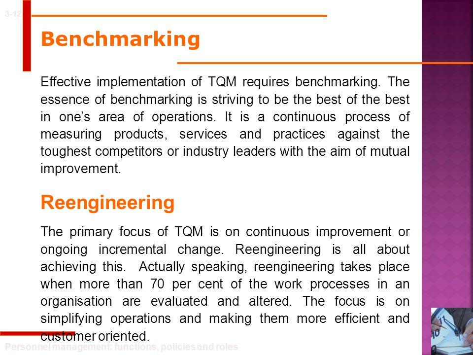 Benchmarking Reengineering