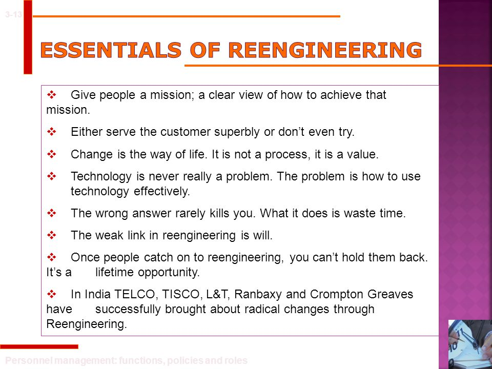 Essentials of reengineering