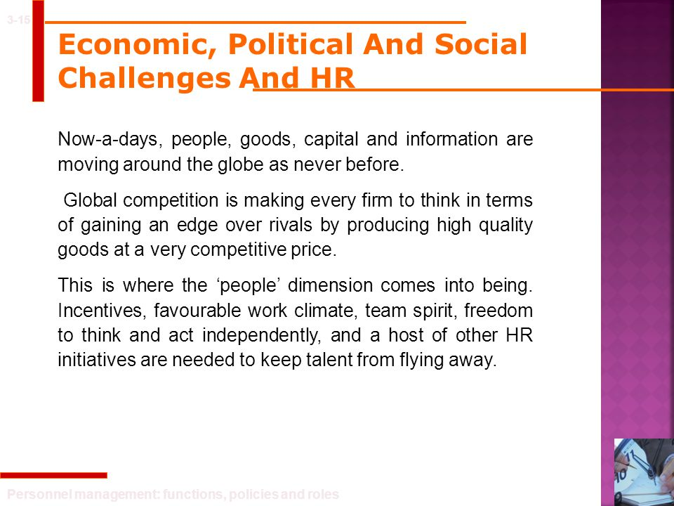 Economic, Political And Social Challenges And HR