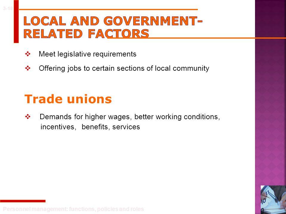 Local and government-related factors