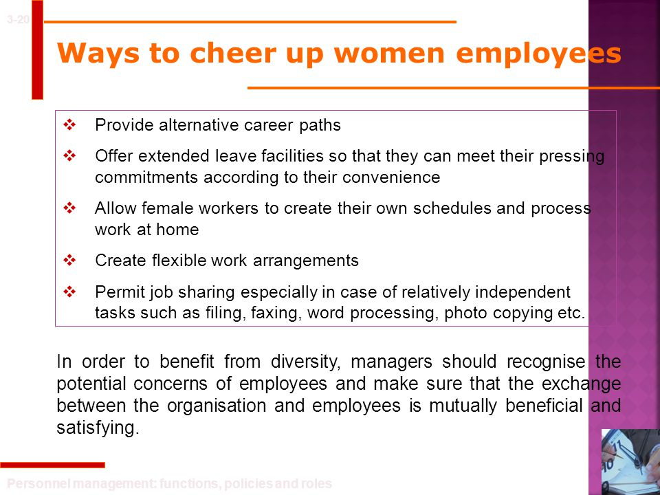 Ways to cheer up women employees