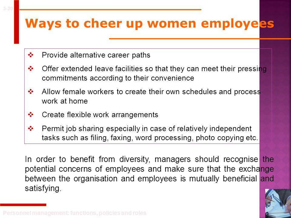 Ways to cheer up women employees