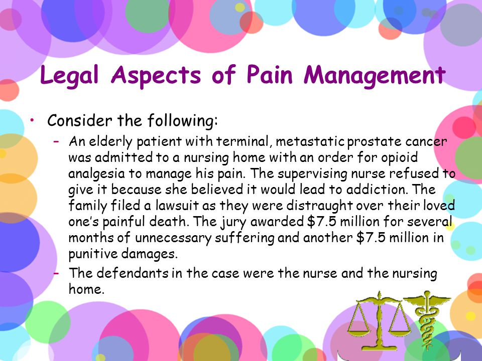 Legal Aspects of Pain Management
