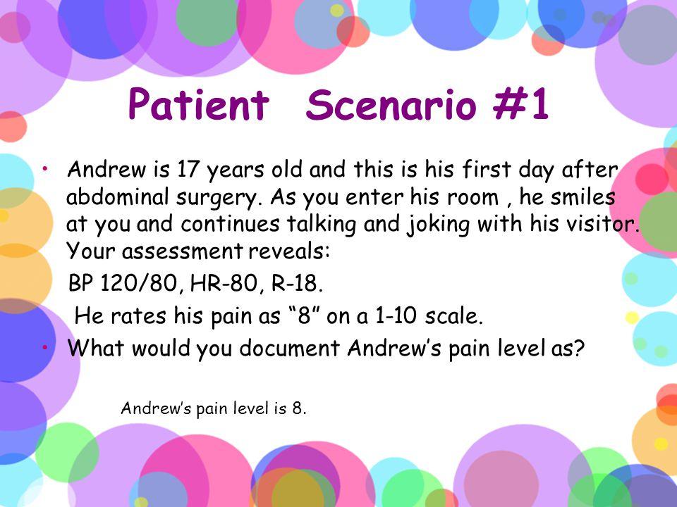 Patient Scenario #1