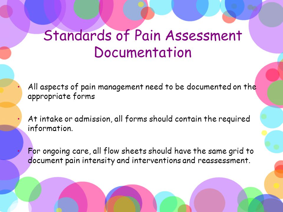 Standards of Pain Assessment Documentation