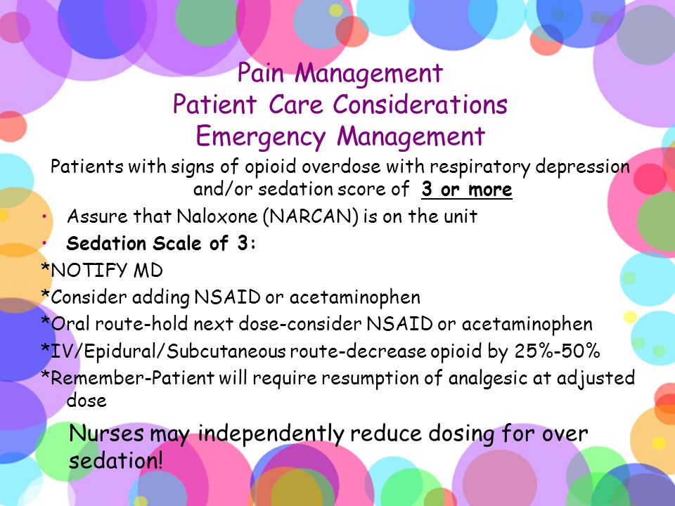 Pain Management Patient Care Considerations Emergency Management