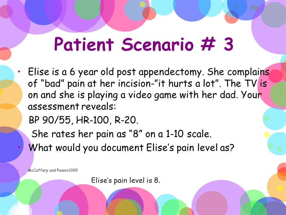 Patient Scenario # 3