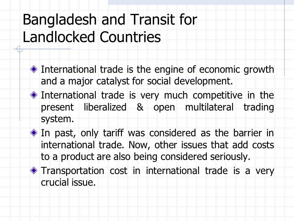 Bangladesh and Transit for Landlocked Countries