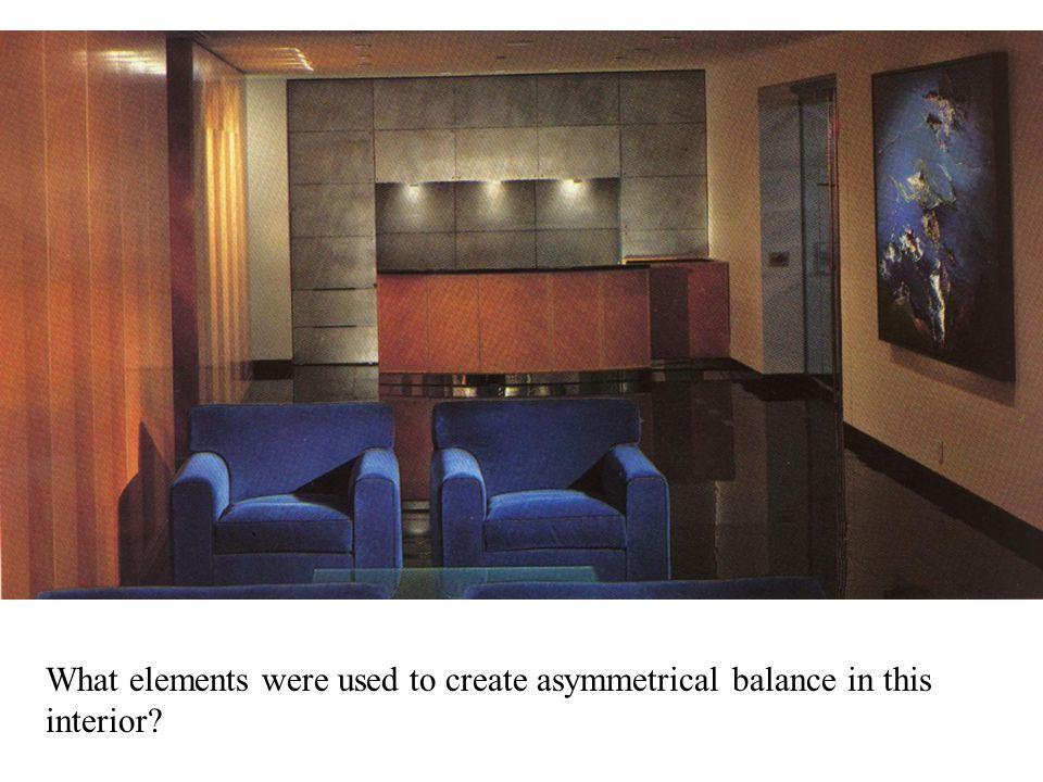 Chapter 3 design principles balance rhythm emphasis Asymmetrical balance in interior design