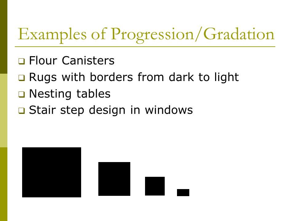 Examples of Progression/Gradation