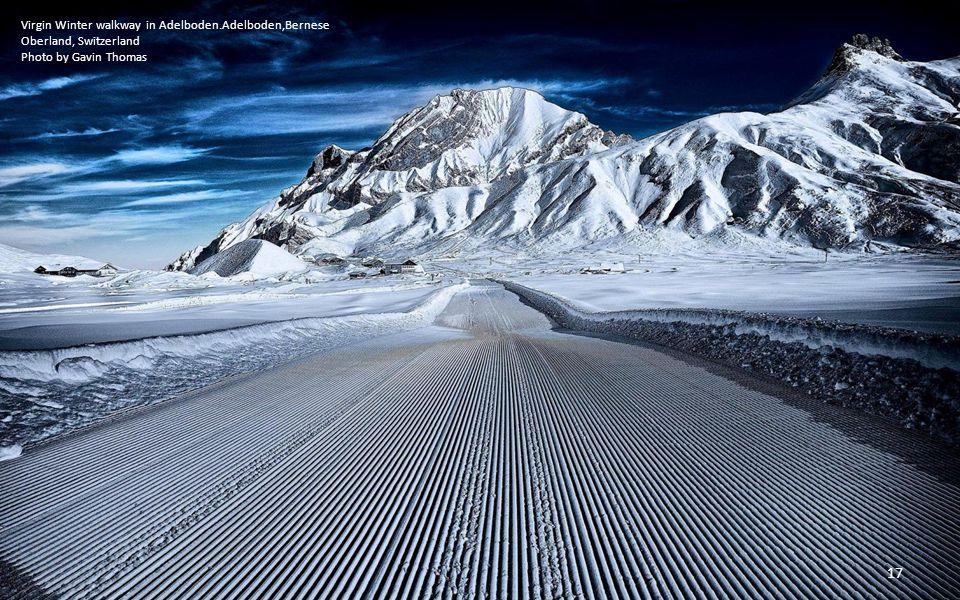 Virgin Winter walkway in Adelboden