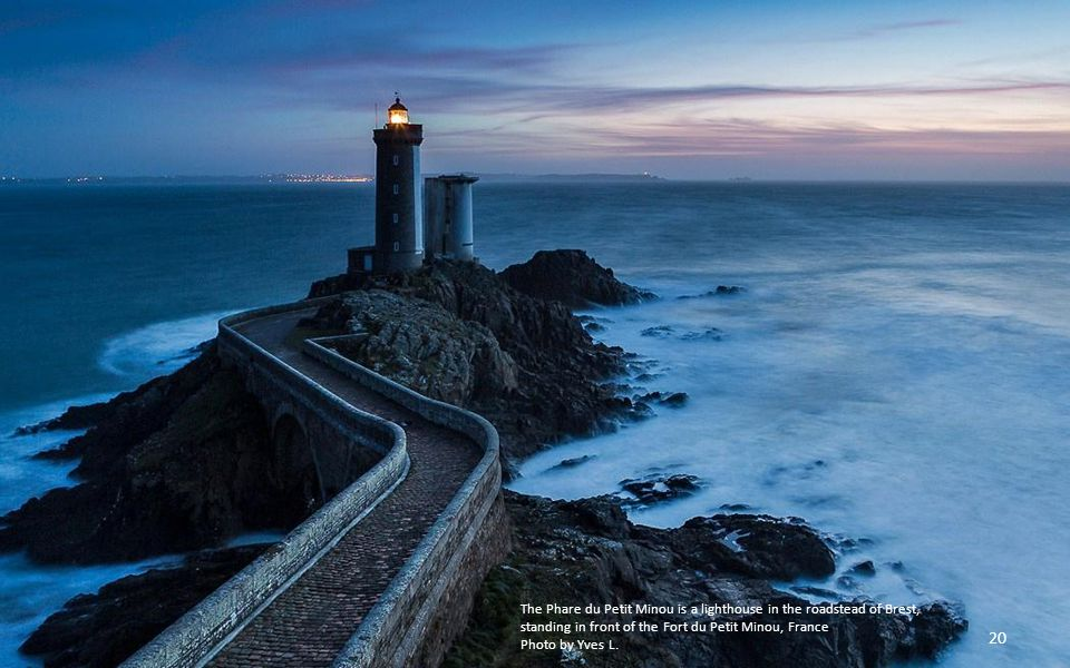 The Phare du Petit Minou is a lighthouse in the roadstead of Brest, standing in front of the Fort du Petit Minou, France