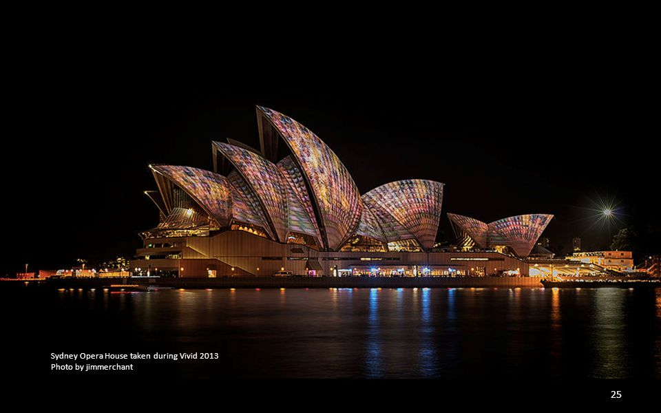 Sydney Opera House taken during Vivid 2013