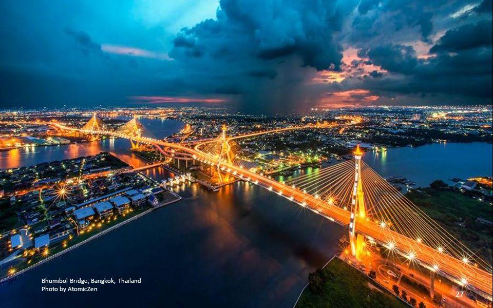 Bhumibol Bridge, Bangkok, Thailand
