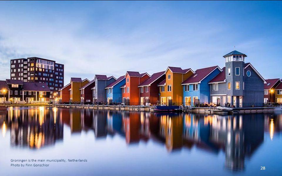 Groningen is the main municipality, Netherlands