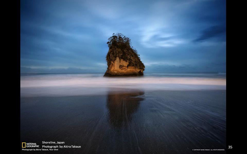 Shoreline, Japan Photograph by Akira Takaue