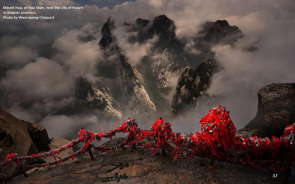 Mount Hua, or Hua Shan, near the city of Huayin in Shaanxi province,