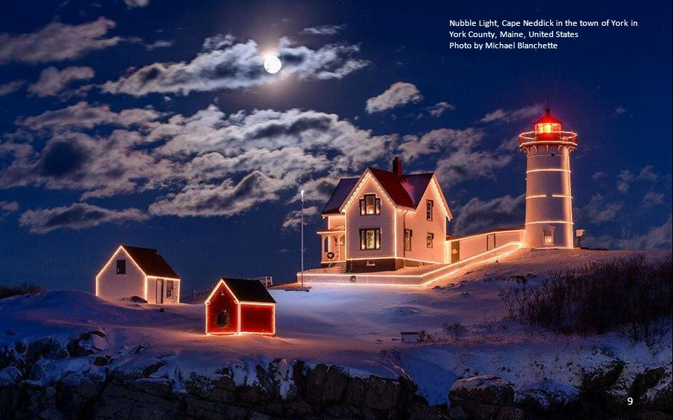 Nubble Light, Cape Neddick in the town of York in York County, Maine, United States