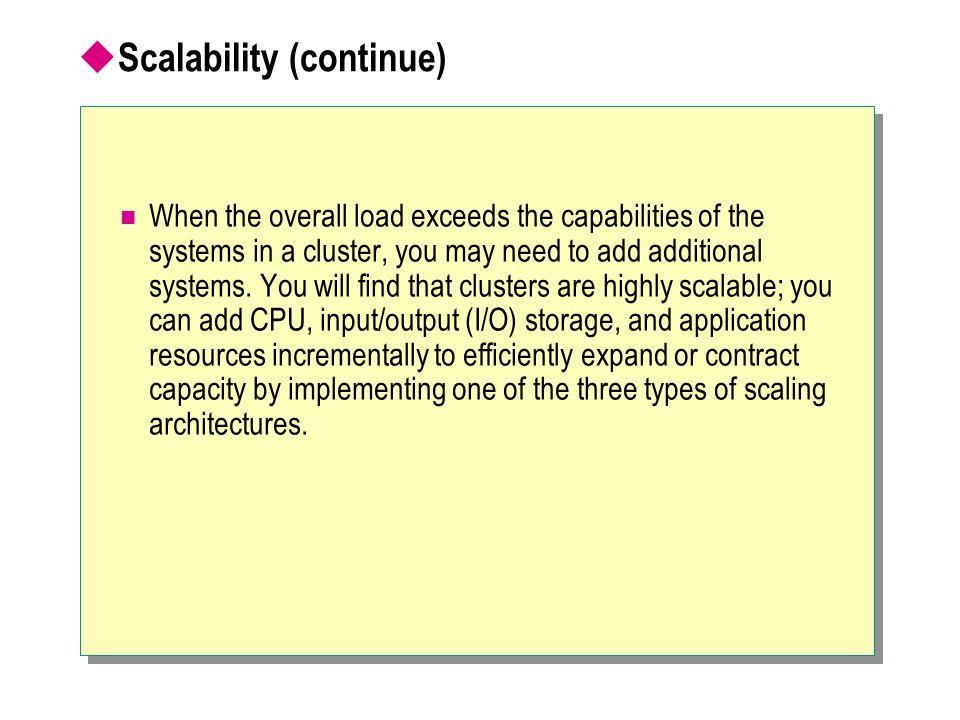 Scalability (continue)